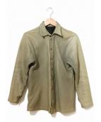 far eastern enthusiast(ファーイースタン エンスージアスト)の古着「CMMレザーシャツジャケット」|グレーグリーン