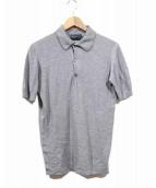 JOHN SMEDLEY×BEAUTY&YOUTH(ジョンスメドレー×ビューティーアンドユース)の古着「ニットポロシャツ」|グレー