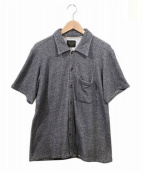 GLAD HAND(グラッドハンド)の古着「バックロゴパイルビーチシャツ」|グレー