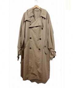 AURALEE(オーラリー)の古着「フィンクスポリエステルビッグトレンチコート」|ベージュ