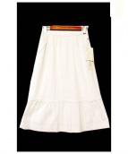 HANAE MORI(ハナエモリ)の古着「シアサッカーストライプスカート」|ホワイト