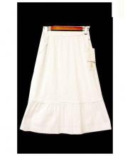 HANAE MORI(ハナエ モリ)の古着「シアサッカーストライプスカート」|ホワイト