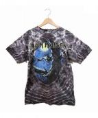 IRON MAIDEN(アイアンメイデン)の古着「ヴィンテージタイダイバンドTシャツ」|グレー