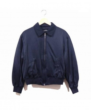 tricot COMME des GARCONS(トリココムデギャルソン)の古着「ポリジャージースイングトップ」|ダークネイビー
