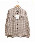 VISVIM(ビズビム)の古着「プリントネルシャツ」|ベージュ