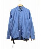 Bagutta(バグッタ)の古着「コーチシャツ」|ブルー