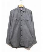 BIG MAC(ビッグマック)の古着「ヴィンテージブラックシャンブレーシャツ」|ブラック