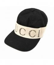 GUCCI(グッチ)の古着「ヘアバンドキャップ」 ブラック