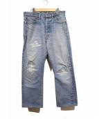 TENDERLOIN(テンダーロイン)の古着「ダメージデニムパンツ」|インディゴ