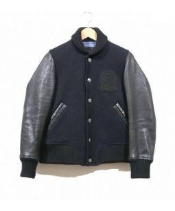 DRAWER(ドゥロワー)の古着「レザースリーブスタジャン」|ブラック