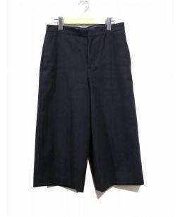 DRAWER(ドゥロワー)の古着「アンクルワイドパンツ」|ブラック