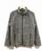 Needles sportswear(ニードルズスポーツウェア)の古着「シャギーカールフリースパイピングジャケット」 グレー