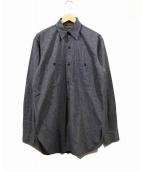 BIG SMITH(ビッグスミス)の古着「ヴィンテージブラックシャンブレーシャツ」|グレー