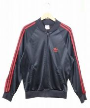 adidas(アディダス)の古着「ATPトラックジャケット/ジャージ」|ブラック×レッド