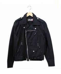 Schott(ショット)の古着「コットンダブルライダースジャケット」|ブラック