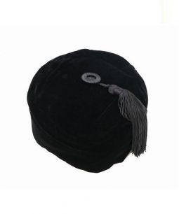 COMME des GARCONS HOMME PLUS(コムデギャルソンオムプリュス)の古着「ベロアチャイナベレー帽」|ブラック