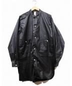 Edwina Horl(エドウィナホール)の古着「コーティングスリットロングシャツ」|ブラック
