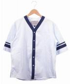 Casely-Hayford(ケイスリーヘイフォード)の古着「ベースボールシャツ」|ブルー