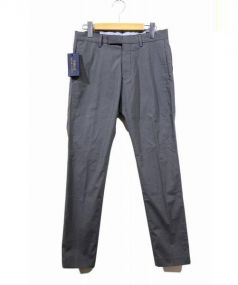 POLO RALPH LAUREN(ポロラルフローレン)の古着「ノータックテーパードスラックス」|グレー