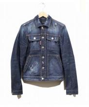 DSQUARED2(ディースクエアード)の古着「ダメージ&ペイント加工デニムジャケット」|インディゴ