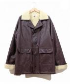 Gosha Rubchinskiy(ゴーシャラブチンスキー)の古着「フェイクレザームートンコート/ビッグジャケット」|ブラウン