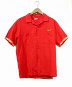 HAMAYA YOKOHAMA(ハマヤ ヨコハマ)の古着「ヴィンテージスーベニア刺繍シャツ」|レッド