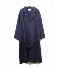 ARMEN(アーメン)の古着「ウールベルテッドコート」 ネイビー