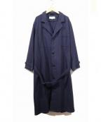 ARMEN(アーメン)の古着「ウールベルテッドコート」|ネイビー