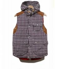 JUNYA WATANABE CdG MAN(ジュンヤワタナベ コムデギャルソンマン)の古着「チェック柄中綿ベスト」 レッド