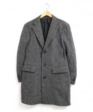 zerbino(ゼルヴィーノ)の古着「Harris Tweed生地チェスターコート」|グレー