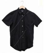 BLACK COMME des GARCONS(ブラックコムデギャルソン)の古着「ステッチデザインシャツ」 ブラック