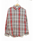 TOWN CRAFT(タウンクラフト)の古着「[古着]ヴィンテージチェックシャツ」|レッド
