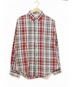 TOWN CRAFT(タウンクラフト)の古着「[古着]ヴィンテージチェックシャツ」 レッド
