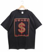 SWANS(スワンズ)の古着「ヴィンテージバンドTシャツ」 ブラック
