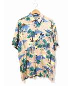JIMMYZ(ジミーズ)の古着「[古着]アロハシャツ」|ピンク