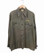 Donegal(ドネガル)の古着「ヴィンテージフリーメイソンシャツ」|グリーン