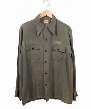 Donegal(ドネガル)の古着「ヴィンテージフリーメイソンシャツ」 グリーン