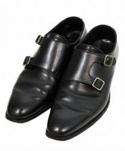 Crockett & Jones(クロケット&ジョーンズ)の古着「ダブルモンクストラップシューズ」|ブラック