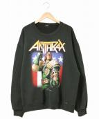 ANTHRAX(アンスラックス)の古着「90'sバンドスウェット」|ブラック