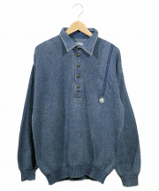 BLUE WELLIS(ブルーウェルズ)の古着「90'sインディゴ染めニット」