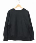 Ron Herman(ロンハーマン)の古着「USEDリメイク胸刺繍スウェット」|ブラック