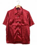 Needles sportswear(ニードルズスポーツウェア)の古着「S/Sレーヨンシャツ」 レッド
