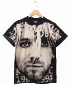 Kurt Cobain/NIRVANA(カートコバーン/ニルヴァーナ)の古着「ヴィンテージバンドTシャツ」 ブラック