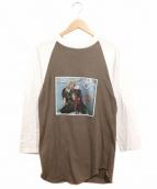 バンドTシャツ(バンドTシャツ)の古着「〔古着〕80'sTWISTED SISTERバンドカットソー」|ホワイト×ブラウン