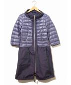 HERNO(ヘルノ)の古着「切替デザインダウンコート」|ネイビー