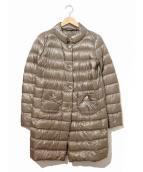HERNO(ヘルノ)の古着「ライトダウンコート」|ベージュ