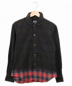 BLACK COMME des GARCONS(ブラックコムデギャルソン)の古着「後染めチェックシャツ」