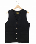 COOTIE(クーティー)の古着「コンチョボタンベスト」 ブラック