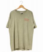 ラップTシャツ(ラップTシャツ)の古着「[古着]90's染込みBOB MARLEYTEE」 オリーブ