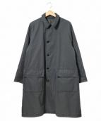 KAPTAIN SUNSHINE(キャプテンサンシャイン)の古着「リバーシブルウールステンカラーコート」 グレー